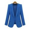 Pre-Order เสื้อสูททำงานแขนยาว เสื้อสูทผู้หญิง สูทลำลอง สีน้ำเงิน-ฟ้า แฟชั่นชุดทำงานสไตล์เกาหลี