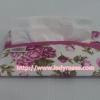 กระเป๋าเอนกประสงค์ ใส่สตางค์ ใส่โทรศัพท์ และ กระดาษทิชชู่ พื้นสีขาว ลายดอกกุหลาบ สีชมพู ( กระเป๋านารายา กระเป๋าผ้า NaRaYa )