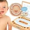 Lok wood กล่องเก็บฟันน้ำนม handmade wooden Baby Tooth Case