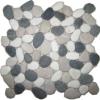 HHPN-07 size 30x30 cm. โมเสคผิวธรรมชาติ Black&White
