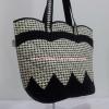กระเป๋าสะพาย นารายา Size M ผ้าคอตตอน ลายชิโนริ ทรงเปลือกไข่ (กระเป๋านารายา กระเป๋าผ้า NaRaYa กระเป๋าแฟชั่น)