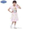 ( 4-6-8-10 ปี ) ชุดเดรส Frozen Summer สีชมพู แขนสั้น ลายเจ้าหญิงอันนา & เจ้าหญิงเอลซ่า ดิสนีย์แท้ ลิขสิทธิ์แท้ (สำหรับเด็ก4-6-8-10 ปี)