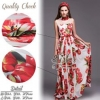 สินค้าพร้อมส่ง 한국에 의해 설계된 2Sister Made, Red Vintage Beauty Aroma Maxi Dress แม็กซี่เดรสลุคสดใส เนื้อผ้าchiffonพริ้วเกรดดีพิมพ์ลายดอกไม้ทั้งตัว งานมีซับในอย่างดีนะคะ ดีเทลแขนกุด ช่วงบนแต่งผ้าsee through กระโปรงระบายบานพริ้วสวย เนื้อผ้ามีน้ำหนักใส่เป็นทรงสว