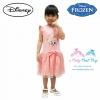 z ชุดเดรสกระโปรงสั้นสีชมพูผ้าลูกไม้ ลายเจ้าหญิงโฟรเซ่น แขนกุด ดิสนีย์แท้ ลิขสิทธิ์แท้ (สำหรับเด็ก1-2-3 ปี)