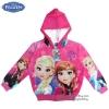 """ฮ""""Size 2-3-4 ปี - Jacket Disney Frozen for Girl เสื้อแจ็คเก็ต เสื้อกันหนาว เด็กผู้หญิง สีชมพู รูดซิป มีหมวก(ฮู้ด)ใส่คลุมกันหนาว กันแดด ใส่สบาย ดิสนีย์แท้ ลิขสิทธิ์แท้"""
