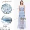 สินค้าพร้อมส่ง 한국에 의해 설계된 Sister made, Blue Premium Modern Design Korea Dress เดรสหรูสไตล์แบรนด์ดัง เนื้อผ้าลูกไม้หนา มีซับในอย่างดีค่ะ ดีเทลสายเดี่ยว มีซิปด้านหลังใส่ง่าย กระโปรงแต่งผ้าระบายเป็นชั้นสวย งานป้าย2Sister สินค้านำเข้างานพรีเมียมนะคะ Cutting/P