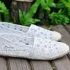 พร้อมส่ง..!!รองเท้าผ้าStyle Valentino วัสดุเป็นผ้าลูกไม้อย่างสวย กุ๊นขอบด้วยเชือกถัก ตัดเย็บดีมาก นิ่ม สวมใส่สบาย พื้นตีแบรนด์ จ้าา