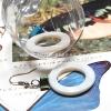 ++ ต่างหู เปลือกหอยมุก สีขาวครีมธรรมชาติ คั่นด้วยเปลือกหอยมุกย้อมสีฟ้า (Mother of Pearl) ++