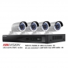Hikvision Set NVR 4CH POE 3MP Bullet Network Camera