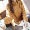 เสื้อผ้าแฟชั่นนำเข้า : เสื้อกันหนาวไหมพรม พร้อมส่ง สีน้ำตาล คอเต่า ออกแนวตัวโคร่งๆ แขนยาว ตัวสั้น ลายลูกโซ่ น่ารักๆ ใส่กันหนาวได้ค่ะ ผ่าด้านข้าง ผ้าไหมพรมมีความยืดหยุ่นได้ อุ่นๆใส่กันหนาวได้