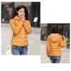 Pre-Order เสื้อโค้ทผู้หญิงแฟชั่น สีเหลือง มีฮู๊ด แขนยาว แฟชั่นเกาหลี