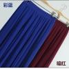 Pre-Order กระโปรงพลีท ผ้าชีฟอง สไตล์โบฮีเมียน ความยาว 50 - 96 cm.สีน้ำเงินกับแดงเข้ม