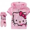 (พร้อมส่ง Size 90 ) ชุดเด็กลายคิตตี้ สีชมพู เสื้อ+กางเกงเข้าชุด น่ารักมากคะ