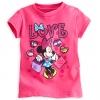 z เสื้อเด็ก ลายมินนี่เม้าส์ Minnie Mouse Glitter Tee for Girls (12-18month)