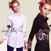 Charlotte Embroider Shirt by Seoul Secret Material : เนื้อผ้าคอตตอนเนื้อสวยอย่างดี ใส่สบาย เก๋ๆ ด้วยทรงเชิ้ตมีดีเทลสวยๆ ที่งานปักลายดอกไม้ ปักประดับที่ช่วงเอวและที่ช่วง ปลายแขนเสื้อ งานปักสวยมาก เนื้อด้ายละเอียดสวยมากๆ สวยเด่นด้วยสีด้ายสีสดสวย น่าใส่มากคะ