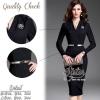 สินค้าพร้อมส่ง 한국에 의해 설계된 2Sister Made, Black Stylish Smart Lady dress เดรสสีดำลุคเรียบหรู เนื้อผ้าpolyesterหนาสีเข้มสวย มีซับในอย่างดีค่ะ ดีเทลแขนยาว คอวี แพทเทิร์นทรงเข้ารูปใส่เป็นทรงสวย กระโปรงยาวคลุมเข่า แหวกด้านหลังนิดๆใส่เรียบร้อยค่ะ มาพร้อมกับเข็มข