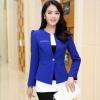 Pre-Order เสื้อสูททำงานแขนยาว เสื้อสูทผู้หญิง สูทลำลอง สีน้ำเงิน แฟชั่นชุดทำงานสไตล์เกาหลี