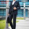(พรีออเดอร์) ชุดสูทสากล ชุดสูทผู้ขาย สูทแนวสปอร์ต กระดุมสองเม็ด สีน้ำเงินเข้ม แฟชั่นสูทสไตล์เกาหลี