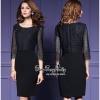 Luxurious Vintage Elegance Black Color Dress เดรสผ้าสีดำพิมพ์ลายนูนดอกกุหลาบทั้งตัวค่ะ เนื้อผ้าโพลีเอสเตอร์เพิ่มลายนูนของดอกกุหลาบแบบ 3D ผสมความสวยให้กับเนื้อผ้าได้ลงตัวค่ะ เดรสทรงคอวีผ่าหน้าทั้งตัว ติดกระดุมหลอกเม็ดสีดำเล็กๆเรียงตัวสวย ตัวเสื้อแขนยาวปิดศ