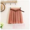 กระโปรงผ้าชีฟองดีไซด์น่ารัก  สีส้มลายดอกไม้สีขาว  สวยน่ารักมากค่ะ  7