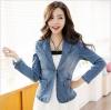 (Pre-order) ชุดสูทยีนส์ผู้หญิง สูทธุรกิจ สูทผู้หญิง เสื้อคอวี มีปก แขนยาว แฟชั่นเกาหลี