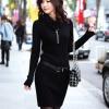 เสื้อผ้าแฟชั่นนำเข้า : เสื้อกันหนาวไหมพรม พร้อมส่ง สีดำ แขนยาว คอเต่า ตัวยาว แต่งลายน่ารัก ใส่เป็นชุดเดรสก็เก๋สุดๆ รายละเอียดเพิ่มเติม : มาพร้อมขัดเข็มเข้ากับตัวชุด เป็นชุดรัดรูป