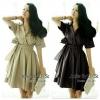 Jolie By D-Sai Dress ~ Korea Design Dress ชุดเดรสทรงคอปก แขนทรง 5 ส่วน ดีไซน์ช่วงตัวเสื้อท่อนบนแบบป้ายทับ แต่ตัดต่อสม๊อกใส่ยางยืดช่วงเอว ช่วงกระโปรงทรงปล่อยบานนิดๆ มาพร้อมผ้าผูกเอวเข้า Set กันเลยค่ะ ชุดนี้ออกแบบดีไซน์สไตล์แบบสาวเกาหลีมากๆ งานตัด Cutting เ