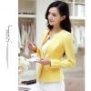 Pre-Order เสื้อสูทแฟชั่นเกาหลี เสื้อสูทเข้ารูป แขนยาว ซับในครึ่งตัว ไม่มีปก สีลูกกวาด สีเหลือง