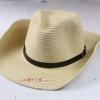 (Pre-order) หมวกปีกกว้าง หมวกสาน ป้องกันแดด สำหรับกิจกรรมกลางแจ้ง เที่ยวทะเล สีครีม