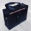 กระเป๋าสะพาย นารายา ผ้าซาตินมัน สีน้ำเงิน ทรงสี่เหลี่ยม ผูกโบว์ด้านหน้า (กระเป๋านารายา กระเป๋าผ้า NaRaYa กระเป๋าแฟชั่น)