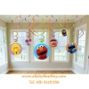 Sesame Street Hanging Swirl Value Pack (Multi-colored) Party Accessory (พร้อมส่ง)