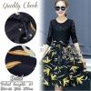 สินค้าพร้อมส่ง 한국에 의해 설계된 2Sister made, Unity Stylish Vintage Lady Beauty Dress เดรสลุคน่ารัก ตัวเสื้อด้านบนเป็นผ้าลูกไม้สีดำบุซับในอย่างดีค่ะ ดีเทลแขนสี่ส่วน ตัดต่อด้วยกระโปรงเนื้อผ้าผสมsilk พิมพ์ลายดอกไม้ จับจีบระบายบานสวย เนื้อผ้ามีน้ำหนักใส่เป็นทรงสวย