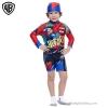 ฮ (สำหรับเด็กอายุ 6เดือน-14 ปี) Swimsuit for Boys ชุดว่ายน้ำเด็กผู้ชาย Batman + Superman มาพร้อมหมวกว่ายน้ำและถุงผ้า สุดเท่ห์ ใส่สบาย ลิขสิทธิ์แท้ (สำหรับเด็กอายุ 1-14 ปี)