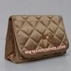 กระเป๋าเครื่องสำอางค์ นารายา ผ้าซาติน สีทอง มีกระจกในตัว Size L (กระเป๋านารายา กระเป๋าผ้า NaRaYa)