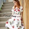 Petite rose print dress by Sweet Bunny เดรสกุหลาบ ผ้าพื้นสีขาวเนื้อดี ใช้ผ้าราคาสูงมีซับในให้ทั้งชุด พิมพ์ลายดอกกุหลาบสีแดงสวยเด่นทั้งชุด ทั้งด้านหน้า-หลัง เดรสทรงแขนสั้นกระโปรงทรงยาวเกือบถึงเข่า ใส่สวยกระโปรงระบายพริ้วน่ารักมาก ขอบกระโปรงใช้ผ้ามันเนื้อหน