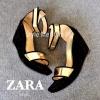 แบบขายดี!!! พร้อมส่ง แบบใหม่สุดเก๋ Style Brand Zara ดีไซน์สุดแจ่มว้าว !! ส่นเตารีดหนังกำมะหยี่แต่งหนังเมทัลลิคสีทองนิ่มหรูหรา สายรัดข้อเมจิคเทปแปะๆดึงๆ ปรับให้กระชับได้ สูง 3.5 นิ้ว เสริมหน้าเยอะ เดินง่าย ไม่เมื่อย ใส่ออกมาสวยนำเทรนด์ก่อนใครเลยน้า^^
