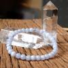 ++ Blue Lace Agate - บลูเลซอาเกต เม็ดกลมขนาดประมาณ 5.5 mm ++