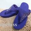 Fitflop SUISEI Black 2 tone sandal(เพชรกระจายใบไม้สีน้ำเงิน 2 สี)700บาท