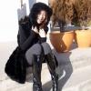 เสื้อกันหนาวแฟชั่นเกาหลี : เสื้อโค้ช พร้อมส่ง สีดำ แขนกุด แต่งด้วยผ้าขนสัตว์นิ่มๆ น่ารักๆแต่งลายทางเก๋ๆ มีฮูท รายละเอียดเพิ่มเติม : ด้านในชุดแต่งด้วยผ้าซับใน เอวจั๊ม ชุดยาวคลุมสะโพก
