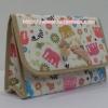 กระเป๋าเครื่องสำอางค์ นารายา ผ้าคอตตอน ลายช้าง หลากสี มีกระจกในตัว Size L (กระเป๋านารายา กระเป๋าผ้า NaRaYa)
