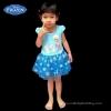 z (1-2-3 ปี) ชุดเดรสสั้นสีฟ้า แขนกุด ลายเอลซ่า ดิสนีย์แท้ ลิขสิทธิ์แท้ (สำหรับเด็ก1-2-3 ปี)