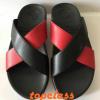 รองเท้า fitflop สวมกากบาททูโทนสีดำ-แดงราคา550บาท