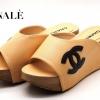 พร้อมส่ง รองเท้าลำลองแบบสวม วัสดุหนังรียบเย็บ Logo CC พื้นตีแบรนด์ Chanel ส้น pu น้ำหนัก เบา ทรงสวยมาก ใส่เดินสบายๆในวันชิวๆ