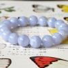 ++ Blue Lace Agate - บลูเลซอาเกต เม็ดกลมขนาด 10 mm ++