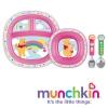 ชุด จาน ชาม ช้อน ส้อม Munchkin Disney Dining Set - 4 colours stainless steel หมีพู สีชมพู