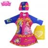 ฮ Size XS - ชุดว่ายน้ำ เด็กผู้หญิง Disney Princess บอดี้สูท สีชมพู เสื้อแขนยาว กระโปรงกางเกง สกรีนลาย เจ้าหญิงปริ้นซส มาพร้อมหมวกว่ายน้ำและถุงผ้า สุดน่ารัก ใส่สบาย ดิสนีย์แท้ ลิขสิทธิ์แท้ (สำหรับเด็กอายุ 6เดือน-2 ปี)