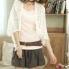 เสื้อผ้าแฟชั่นนำเข้า : เสื้อคลุม พร้อมส่ง เสื้อคลุมแฟชั่น สีขาว ผ้าถัก อย่างดี เนื้อนิ่ม ใส่สบาย หรือ ใช้เป็นผ้าคลุมไหล่ ก็เก๋ดีค่ะ