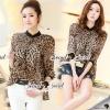 Seoul Secret Say's... Leopard Girlly Blact Collar Shirt Material : เสื้อลายเสือ เนื้อผ้าชีฟอง ทรงสวยด้วยทรงเชิ้ตชายเสื้อพริ้วๆ ใส่แล้วทรงสวย เปรี้ยวเก๋ด้วยงานพิมพ์ลายเสือสีสวยน่าใส่มากคะ แมตซ์ได้ทั้งกางเกงขาสั้นและขายาวนะคะ เติมด้วยเครื่องประดับหรือ