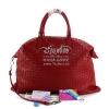 Pre-Order กระเป๋าหนังแกะสานสีแดง easeu กระเป๋าสะพายไหล่และกระเป๋าถือใบใหญ่ กระเป๋าแฟชั่นผู้หญิงทำงาน