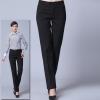 (Pre-Order) กางเกงขายาว กางเกงทำงาน กางเกงสูท กางเกงลำลอง ทรงตรง สีดำ